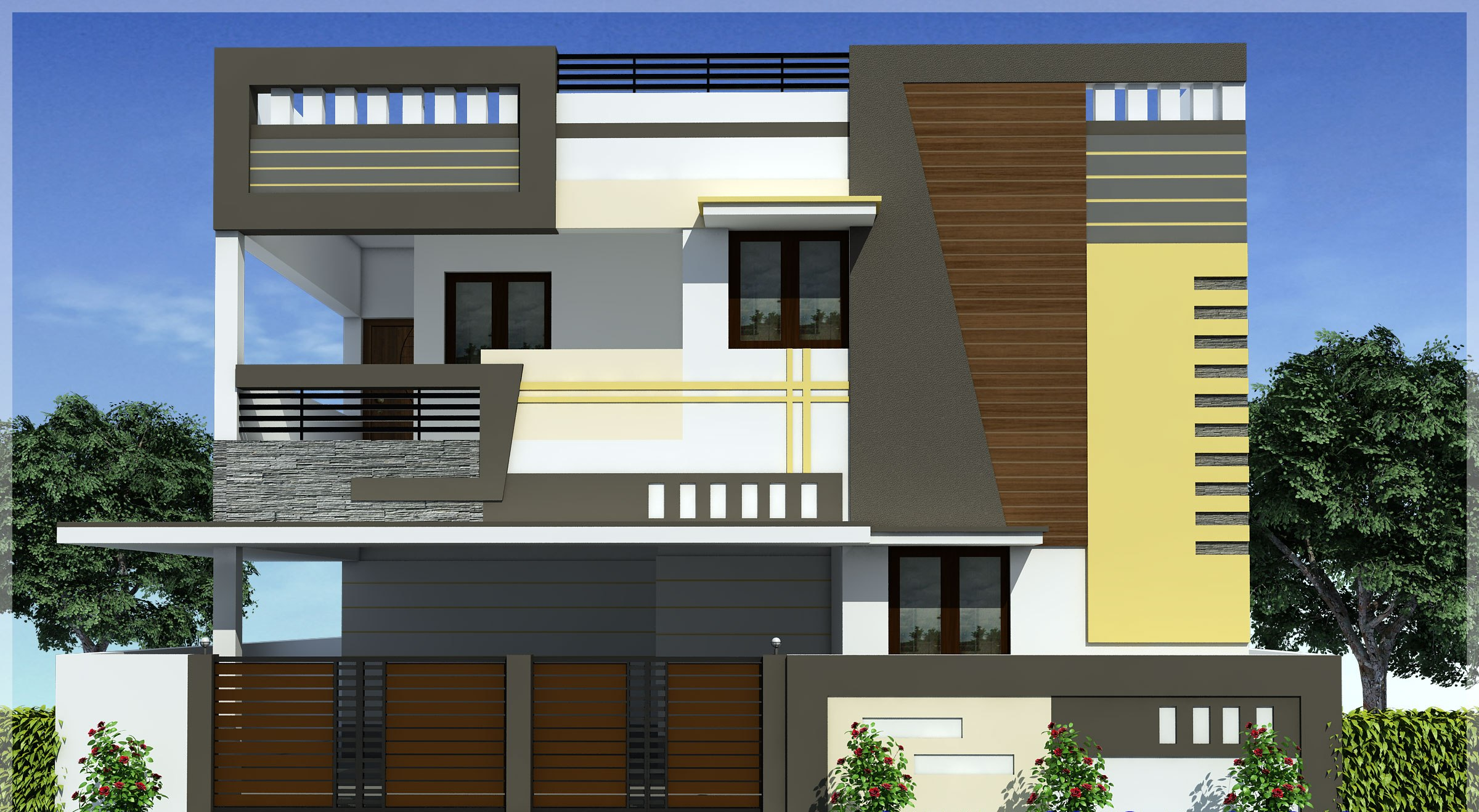 4 bhk house for sale in coimbatore 4 bhk villas in for Independent house elevation photos